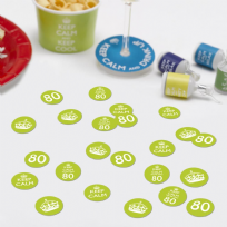 Keep Calm You're Only 80 Table Confetti (14g)